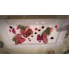 合鴨と苺の前菜です。